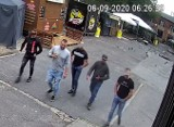 Piotrkowska: Chluśnięty piwem i uderzony łokciem w twarz! Kto rozpoznaje tych napastników?