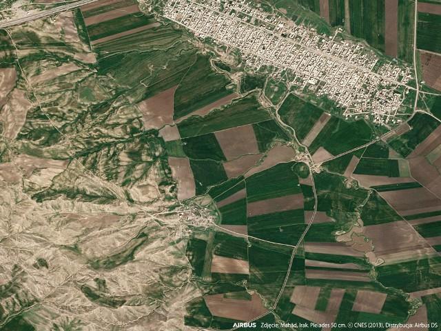 Fragment zobrazowania satelitarnego wykorzystanego w projekcie.