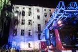 Wielki pożar na Ogrodowej. Bezdomny wyskoczył z trzeciego piętra. Spadł na strażaka [ZDJĘCIA, FILM]