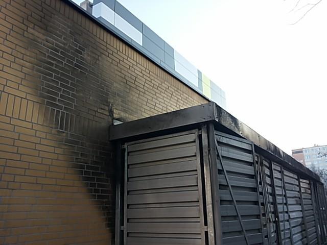 Pożar, Biedronka przy Horbaczewskiego, Wrocław