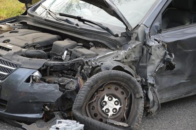Wypadek w Pamiętnej na drodze krajowej nr 70