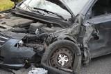 Groźnie wyglądający wypadek w Pamiętnej koło Skierniewic