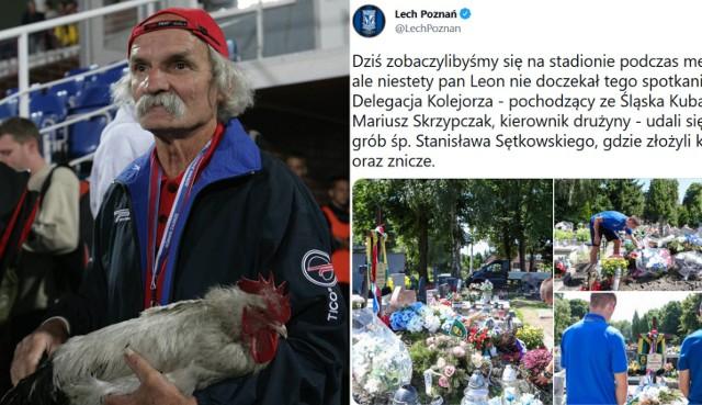 Delegacja Lecha na grobie legendy Górnika