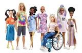 Nowe lalki Barbie: bez włosów, z bielactwem, ze złotą protezą nogi. Plus Ken z długimi włosami oraz pierwszy w historii rudy Ken