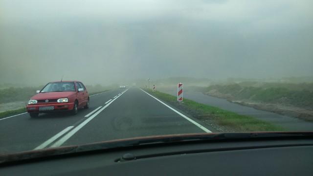 Burza piaskowa koło Turowa pod Szczecinkiem