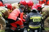 Wypadek na trasie 871 relacji Tarnobrzeg - Stalowa Wola. Samochód dachował w rowie