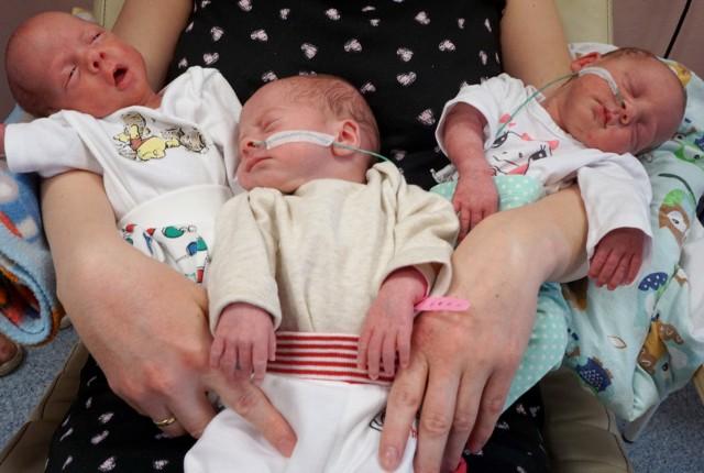 Łódzkie trojaczki urodzone w 2016 roku.