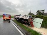 Śmiertelny wypadek w Przepałkowie na DK 25. Nie żyje 44-letni mężczyzna [zdjęcia]