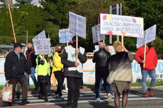 Protest w Busku