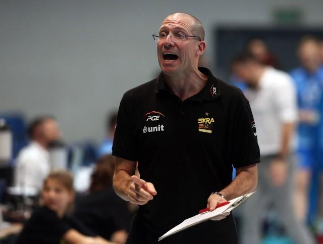 Włoski trener Skry Bełchatów Roberto Piazza.