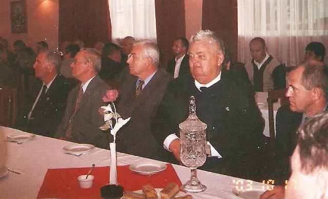 Na spotkaniu w Grudziądzu - Baszanowski drugi od lewej