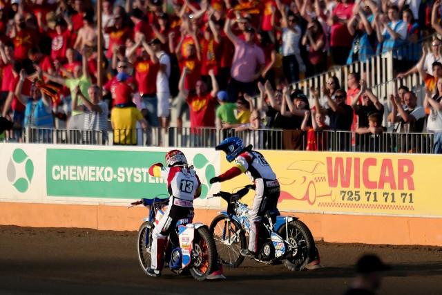 Ostatni mecz Betardu Sparty z Fogo Unią Leszno z trybun Stadionu Olimpijskiego oglądał komplet 12,5 tys. widzów.