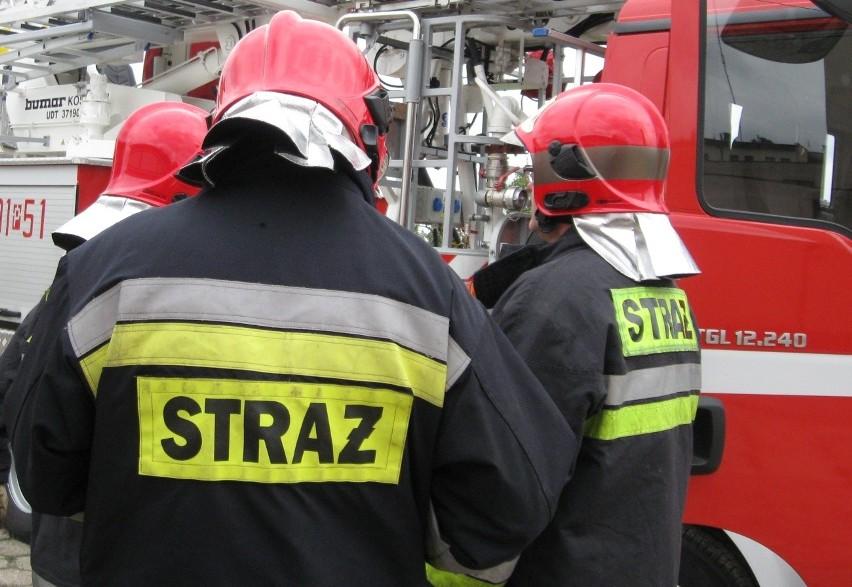 Pożar samochodów. W rzeźni w Żurominie spłonęły dwie ciężarówki z naczapami