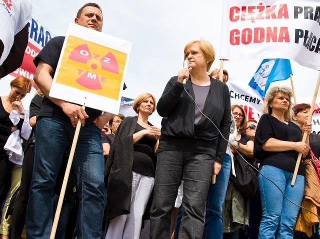 Pracownicy szpitali protestowali już 12 maja br., w Białymstoku