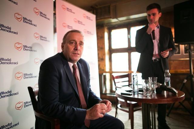 Grzegorz Schetyna spotkał się w Łodzi z Młodymi Demokratami