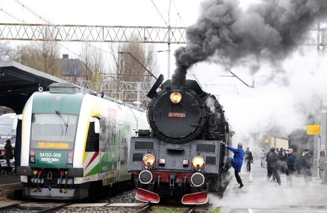 Pociąg Harry na stacji PKP Zielona Góra