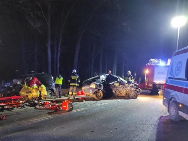 22-latek kierujący oplem zginął na miejscu