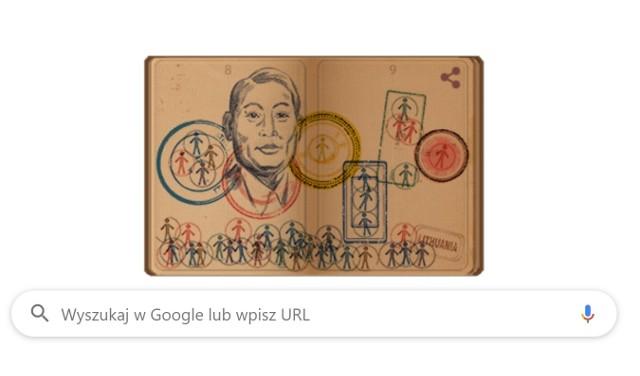 Google dało Doodle w poniedziałek 29 lipca. Wyróżniony został Chiune Sugihara.