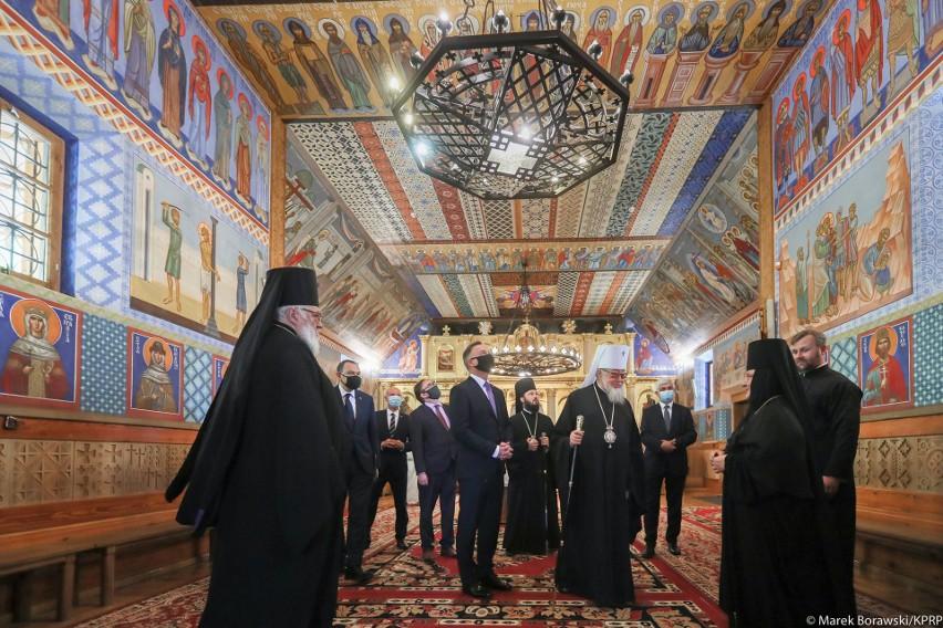 Prezydent RP Andrzej Duda odwiedził żeński monaster św. św....