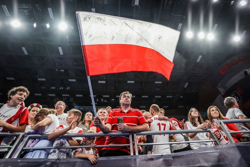 Kibice na meczu Polska - Finlandia w Ergo Arenie