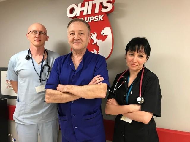 Specjaliści hematolodzy w słupskim szpitalu: Szymon Kukulski, Wojciech Homenda, Magdalena Muzalewska-Wolska