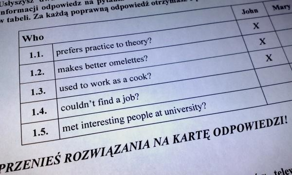 Odpowiedzi do matury z języka angielskiego 2013 opublikujemy tuz po zakończeniu egzaminu