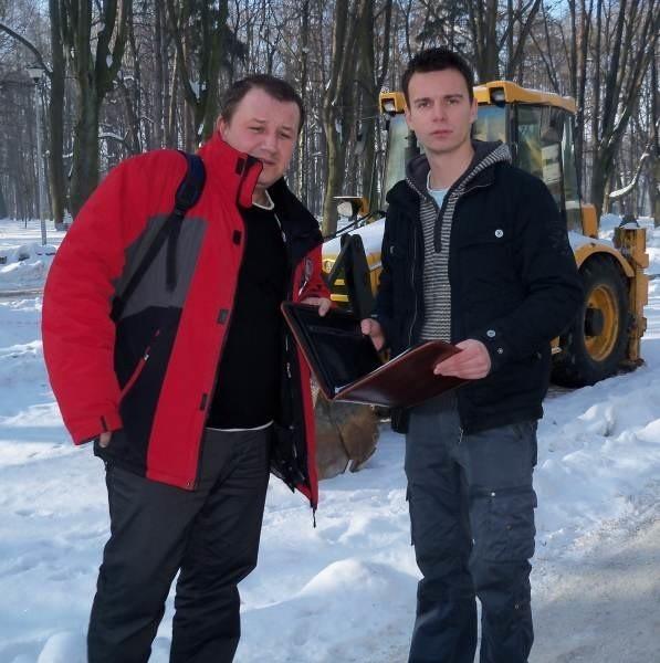 Przedsiębiorcy Damian Gagatek (z lewej) i Damian Honcel chcą walczyć o swoje.