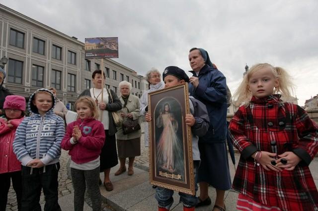 Modlitwa na Rynku Kościuszki.