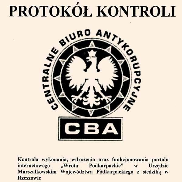"""Raport CBA, do którego dotarliśmy wczoraj, będzie podstawą doniesienia do prokuratury, które wobec twórców """"Wrót Podkarpackich"""" planuje złożyć marszałek"""