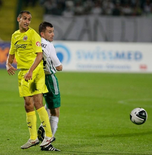 Piotr Wiśniewski podczas meczu towarzyskiego Lechia Gdańsk - Villarreal CF (31 lipca 2010)