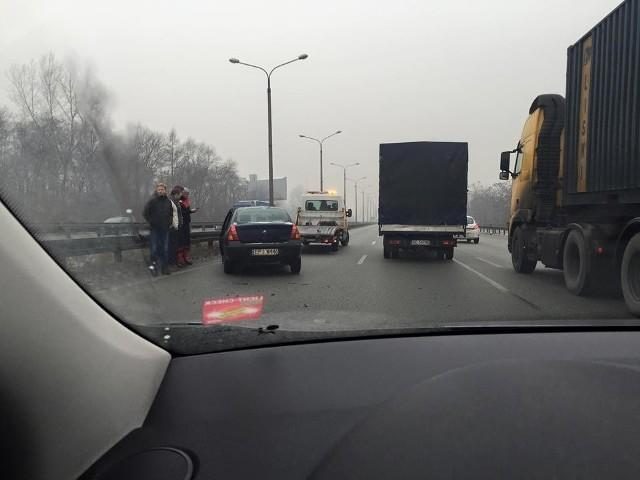 Wypadek na DK 86 w Sosnowcu