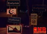ONR Białystok. Ustawili antyislamskie rogatki na obrzeżach Białegostoku