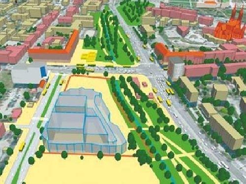 Plac Inwalidów od kilku lat czeka na inwestycję. Projekt na rysunku też został odłożony do lamusa