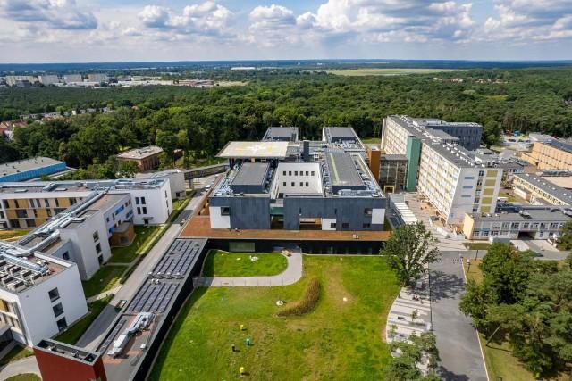 Rozbudowa Wojewódzkiego Szpitala Zespolonego w Toruniu z drona