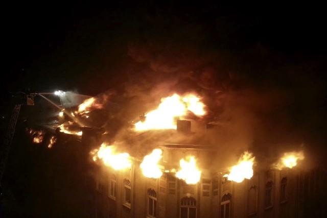 Pożar kamienicy przy Kilińskiego 93 w Łodzi