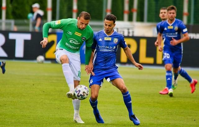 Ostatni mecz Radomiaka z Miedzią zakończył się wygraną ekipy z Radomia 3:0. Jedną z bramek strzelił Rafał Makowski (z lewej)
