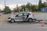 Dwa auta zderzyły się na skrzyżowaniu al. Mickiewicza i ul. Wólczańskiej