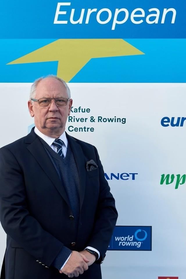 Prezes WZTW, Aleksander Daniel, może być dumny, że jemu i jego współpracownikom w mijającym roku udało się zorganizować ME w wioślarstwie na torze Malta w Poznaniu