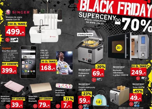 Black Friday 2017 w Lidlu. Czarny Piątek w Lidlu: co kupimy w promocji? [GAZETKA BLACK FRIDAY LIDL]