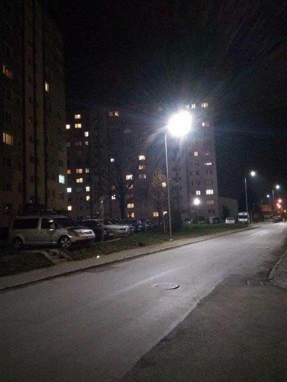 Ulica Graniczna z nowym oświetleniem.