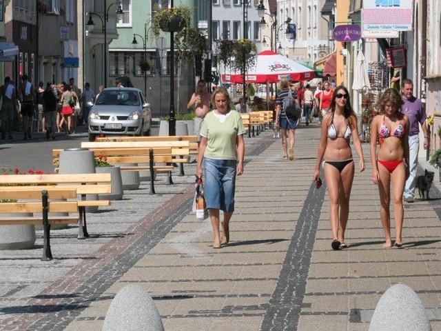 Przebudowana ulica Marynarki Polskiej latem ubiegłego roku.