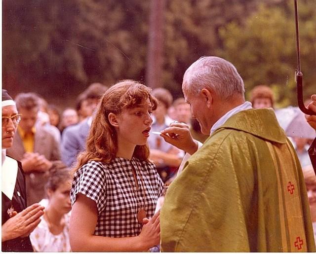 Msza święta z Janem Pawłem II w Rzymie, w sierpniu 1979 roku.