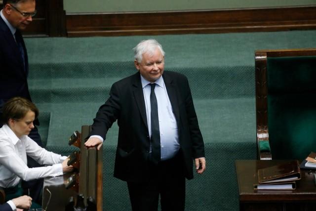 Jarosław Kaczyński w Sejmie RP.