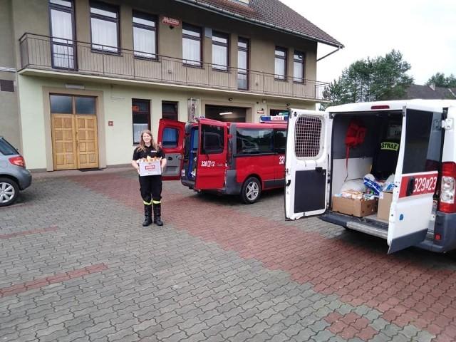Strażacy zawieźli dary dla powodzian