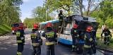 Pożar autobusu w Gliwicach. W środku było 20 pasażerów ZDJĘCIA Autobus linii 850 miał awarię i zapaliła się komora silnika