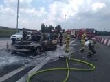 Pożar samochodu na A4 pod Wrocławiem. Tworzą się korki