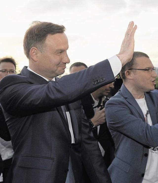 Andrzej Duda szedł w dobrym nastroju na wczorajszą debatę w telewizji