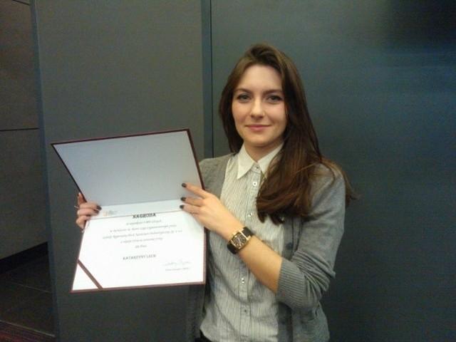 Pani Katarzyna Lech laureatka konkursu na nowe logo Technoparku