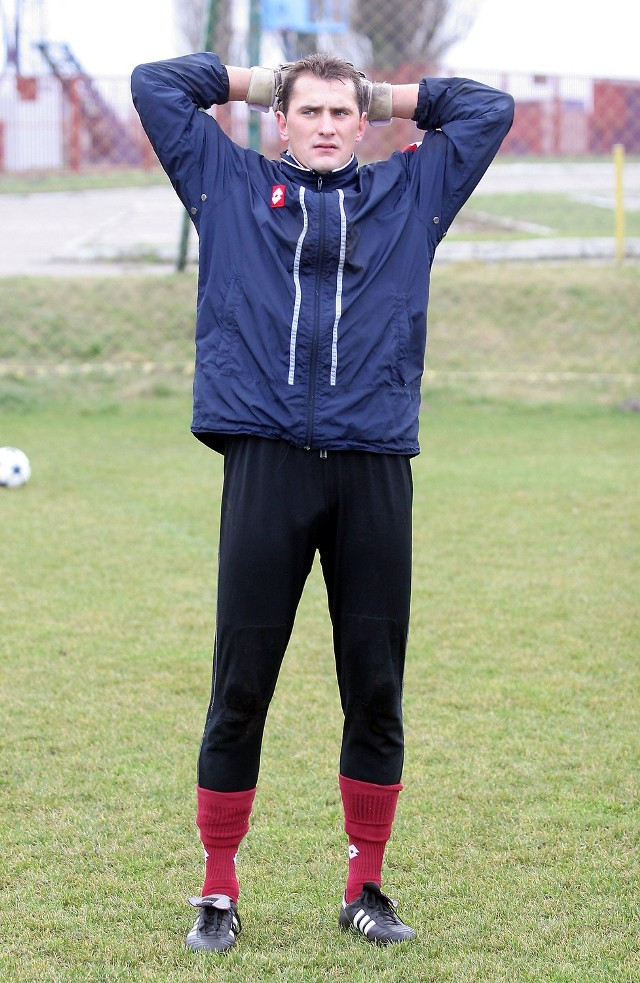 Słowacki bramkarz Boris Pesković wczoraj po raz pierwszy trenował w Szczecinie.