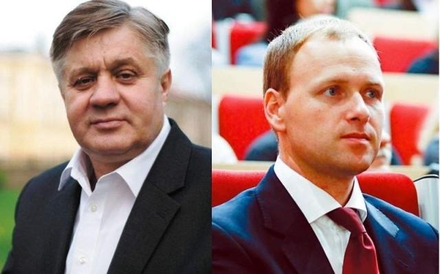 Poseł Krzysztof Jurgiel (po lewej) i poseł Damian Raczkowski o wstępnych wynikach prezydenckich 2015